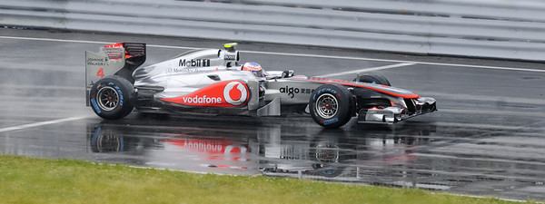 Ile Notre-Dame, Montréal, Qc, Canada; Jenson Button lors le la course du dimanche au Grand Prix du Canada 2011 / Jenson Button on the Sunday race of 2011 Montreal Grand Prix racing to the victory.