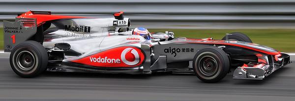 """Jenson Button photographed in the """"Epingle"""" at the Montreal F1 Grand Prix / Jenson Button dans l'Epingle pendant la fin de semaine du Grand Prix de Montréal 2010."""