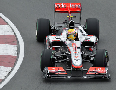 """Lewis Hamilton photographed in the """"Epingle"""" at the Montreal F1 Grand Prix / Lewis hamilton dans l'Epingle pendant la fin de semaine du Grand Prix de Montréal 2010."""
