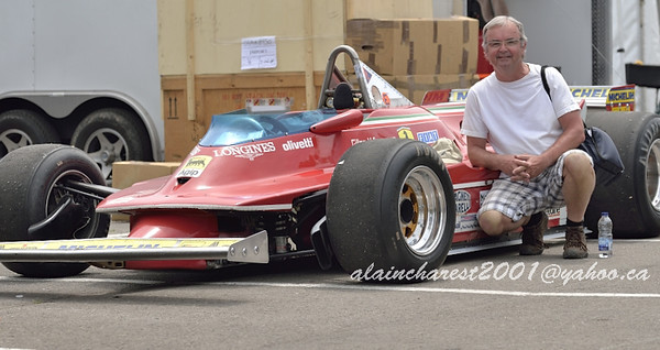My brother with the Ferrari 312 T5 F1
