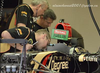 Team work on a Lotus