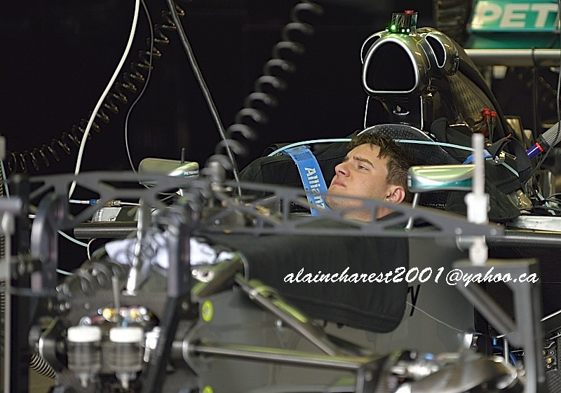 Mercedes garage team member