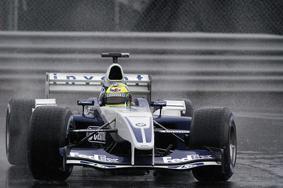 Grand prix de F1 de Montréal / Montreal F1 Grand Prix, 13-06-2003, Ralf Schumacher: A rainy moment for Ralf in a Williams. / Ralf sous un moment de pluie dans la Williams.