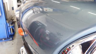 Bubbling paint - unprepared paint surface