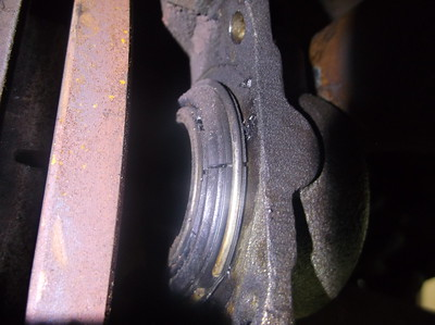 Rear caliper piston dust boot cracked with heat