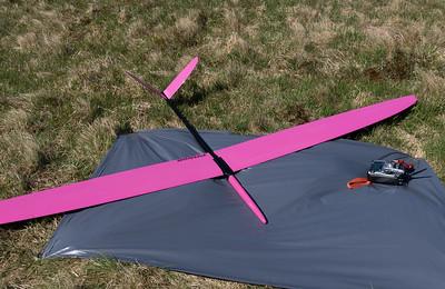 A newish model: Martin Drewett's Baudis Pitbull, span 2980mm