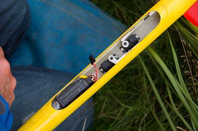 Pete Burgess's Needle 115, uses custom servo plate from Jonathan Wells