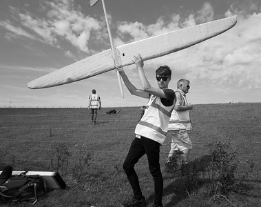 Models were passed over the fence. Here's Jack Cubitt with Willow 2.