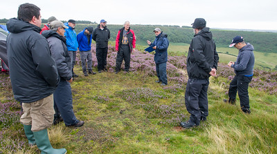 DAY ONE, South bowl at Horcum: Pilots briefing