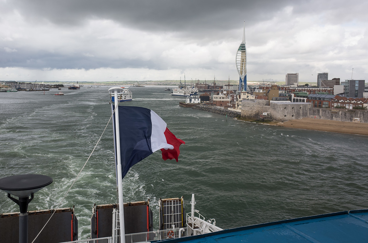 Aboard the Cap Finistere, bound for Bilbao