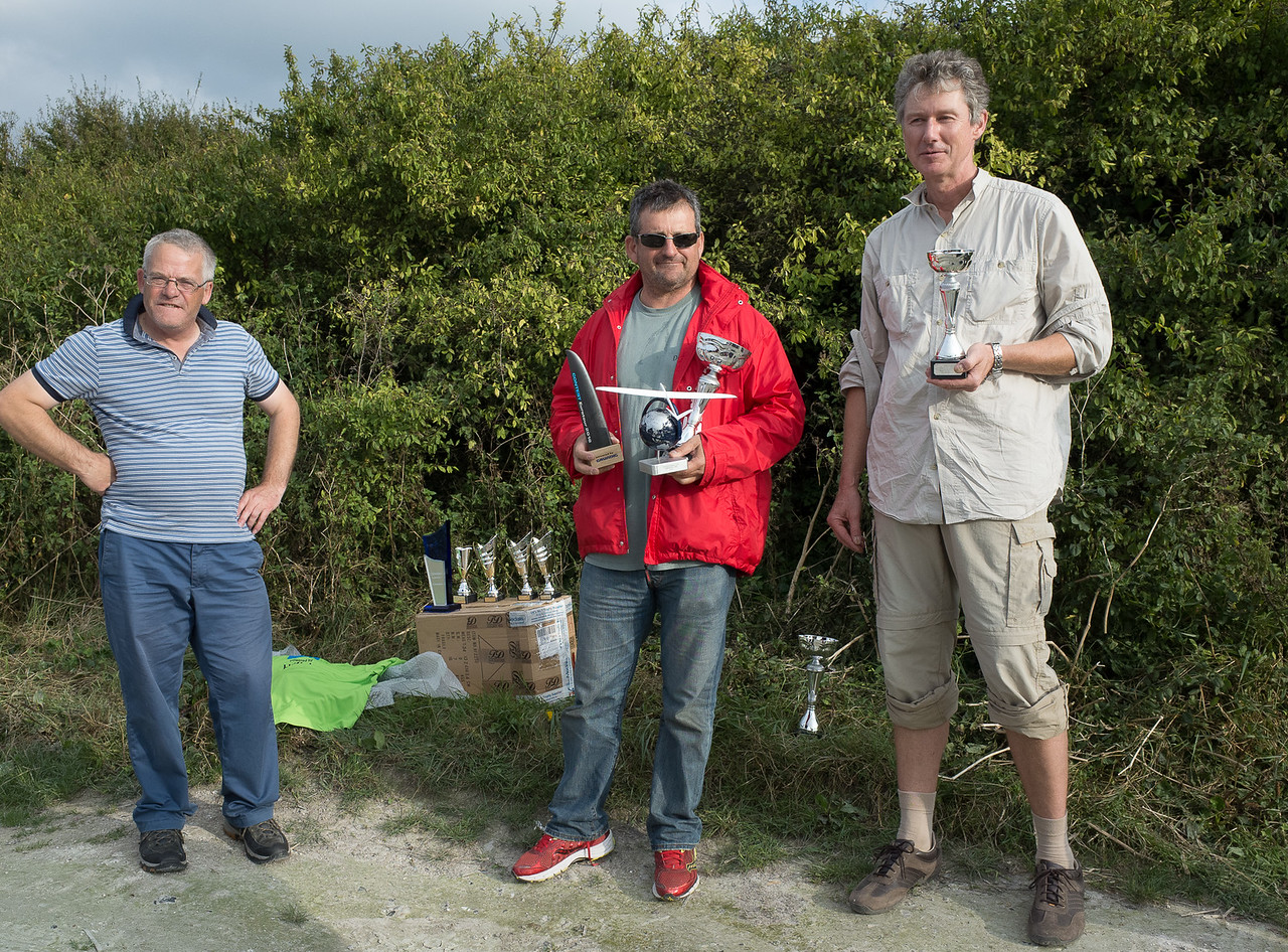CD John Phillips with winner Iñaki and third placed Peter Kowalski