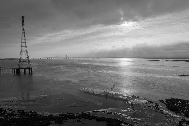 The Severn Crossing, from the walkway of the old Severn Bridge.
