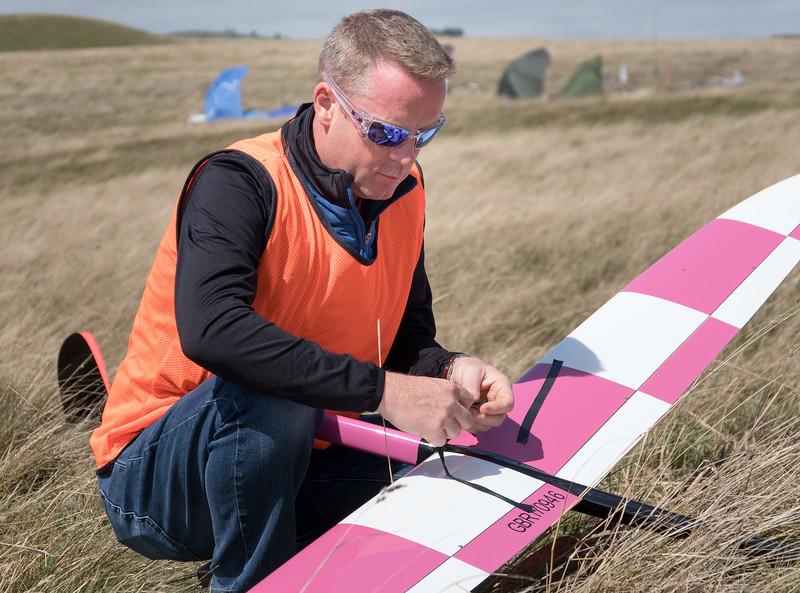 Martin preparing his model