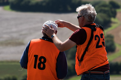 To cap it all! Paul Stubley assists Keith Wood.