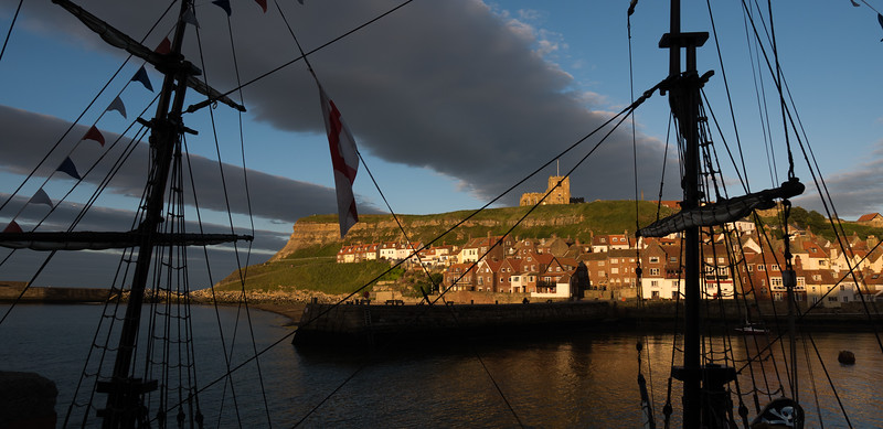AFTER HOURS: Whitby: looking across to the abbey