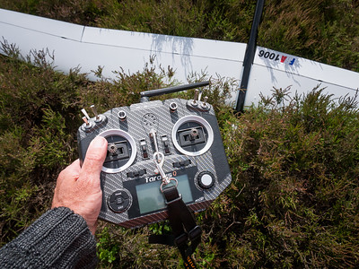 Jean Luc uses a FrSky Q X7 transmitter.