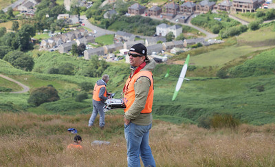 CD and third placer Joel West with backdrop of Nanty Moel