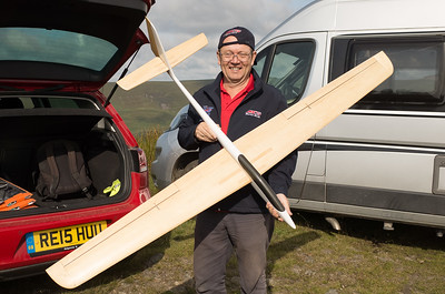 Car park chatter: Mark Passingham with Sonic 2 meter fus, lightweight wings with Quabeck HQA 1/9