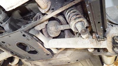 Generally very rusty rear suspension