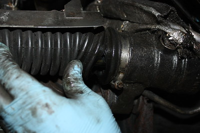 Steering gaiter split (both sides) - MoT fail