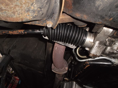 New steering rack gaiter fitted