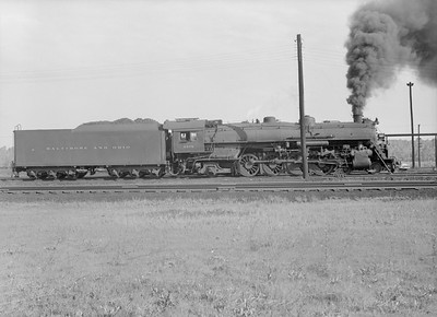 2016.010.FAC5.10376--cole 6x9-12pak neg--B&O--steam locomotive 4-8-2 5578--Riverdale IL--1956 0916