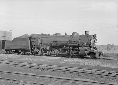 2016.010.FAC5.10374--cole 6x9-12pak neg--B&O--steam locomotive 2-8-2 4515--Riverdale IL--1956 0916