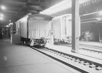 2016.010.FAC5.06683--cole 6x9-12pak neg--CB&Q--H&StJ mail car on display at Union Station--Chicago IL--1948 0325