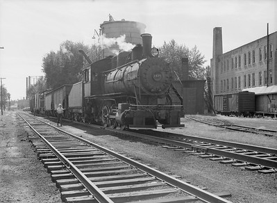2016.010.FAC6.09277--cole 6x9-8pak neg--CMStP&P--steam locomotive 0-6-0 I5 1479 yard scene--Clinton IA--1954 0925