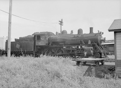 2016.010.FAC6.09166--cole 6x9-8pak neg--CMStP&P--steam locomotive 4-6-0 G7 1083--Lyons IA--1954 0821