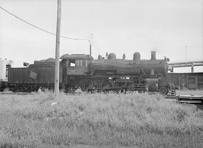 2016.010.FAC6.09164--cole 6x9-8pak neg--CMStP&P--steam locomotive 4-6-0 G7 1083--Lyons IA--1954 0821
