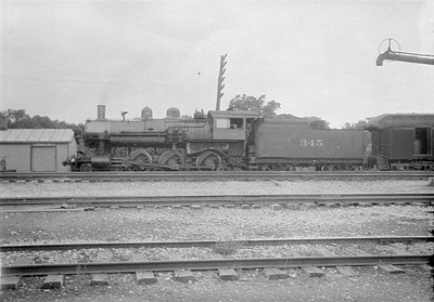 2016.010.FAC1.01855--cole 500 neg--C&NW--steam locomotive 4-6-0 R-1 345 on passenger train--Geneva IL--1930 0614