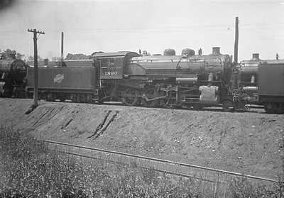 2016.010.FAC1.01790--cole 500 neg--C&NW--steam locomotive 2-8-0 Z 1890--Crystal Lake IL--1930 0525