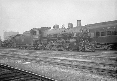 2016.010.FAC1.01862--cole 500 neg--C&NW--steam locomotive 4-6-2 E-1 2215--Weber IL--1930 0622