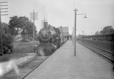 2016.010.FAC1.01854--cole 500 neg--C&NW--steam locomotive 4-6-0 R-1 345 on passenger train at station--Geneva IL--1930 0614