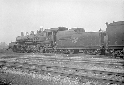 2016.010.FAC1.01867--cole 500 neg--C&NW--steam locomotive 4-6-2 E-1 120--Weber IL--1930 0622