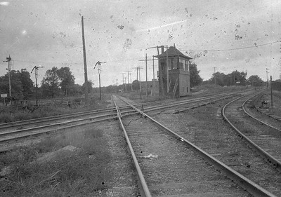 2016.010.FAC1.02280--cole 500 neg--C&NW--interlocking tower and xing with CMStP&P--Elgin IL--1923 0819