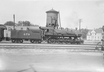 2016.010.FAC1.01899--cole 500 neg--C&NW--steam locomotive 4-6-0 R-1 479--Palatine IL--1930 0712