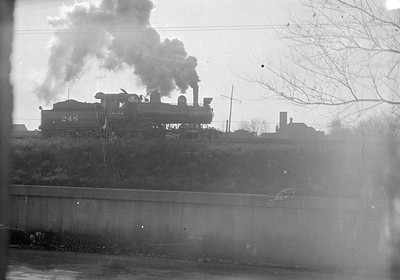 2016.010.FAC1.02469--cole 500 neg--C&NW--steam locomotive 4-4-0 A-5 248 light power action--Chicago IL (Laramie and Kinzie)--1924 1200
