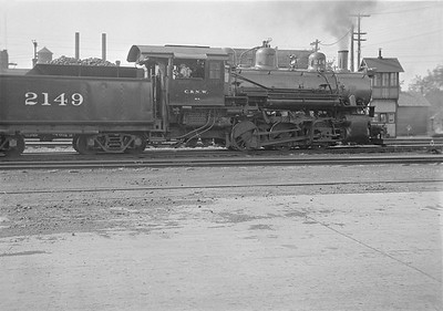 2016.010.FAC1.05664--cole 6x9-8pak neg--C&NW--steam locomotive 0-6-0 M-2 2149--Nelson IL--1930 0823