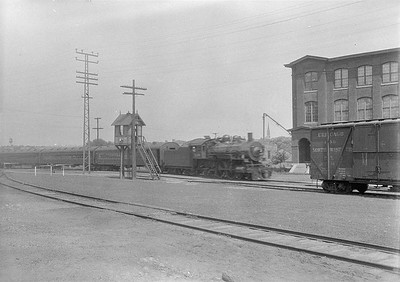 2016.010.FAC1.06074--cole 6x9-8pak neg--C&NW--steam locomotive 4-4-2 D 1299 on passenger train scene--Aurora IL--1931 0725