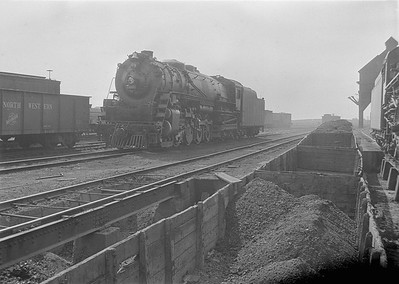 2016.010.FAC1.05666--cole 6x9-8pak neg--C&NW--steam locomotive 4-8-4 H 3031 scene at servicing facility--Nelson IL--1930 0823