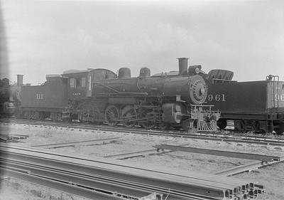 2016.010.FAC1.06174--cole 6x9-8pak neg--C&NW--steam locomotive 4-6-2 L 111 (dead)Chadron NE--1931 0805