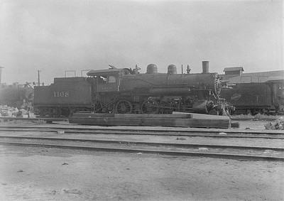 2016.010.FAC1.06192--cole 6x9-8pak neg--C&NW--steam locomotive 4-6-0 R-1 1108 (dead)--Chadron NE--1931 0805