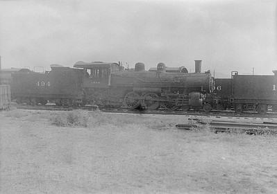 2016.010.FAC1.06169--cole 6x9-8pak neg--C&NW--steam locomotive 4-6-2 L 494 (dead)--Chadron NE--1931 0805