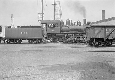2016.010.FAC1.05422--cole 6x9-8pak neg--C&NW--steam locomotive 0-6-0 M-1 63 yard scene--Madison WI--1930 0818
