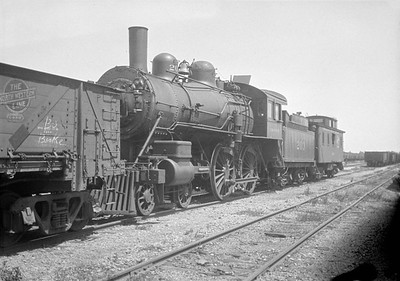 2016.010.FAC1.01825--cole 500 neg--C&NW--steam locomotive B 4-4-0 203 (dead)--Janesville WI--1930 0531