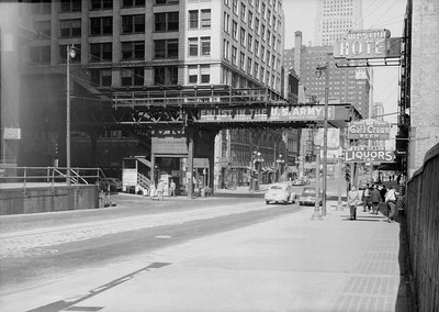2016.010.FAC5.06705--cole 6x9-12pak neg--Chicago Elevated--old Market St L stub end of line at Madison St--Chicago IL--1948 0531