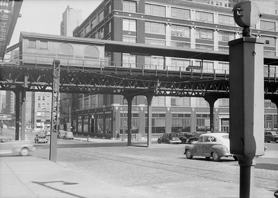 2016.010.FAC5.06702--cole 6x9-12pak neg--Chicago Elevated--old Market St L stub Randolph St station looking east--Chicago IL--1948 0531