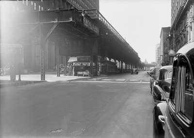 2016.010.FAC5.06704--cole 6x9-12pak neg--Chicago Elevated--old Market St L stub end of line at Madison St--Chicago IL--1948 0531